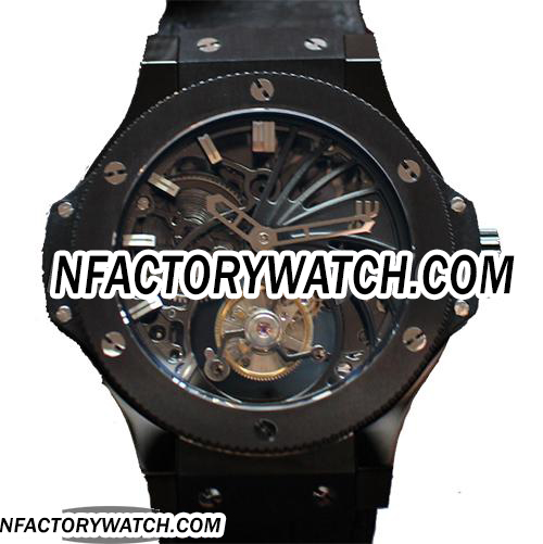 宇舶Hublot Big Bang 大爆炸 Black Full Ceramic 黑色全陶瓷 Skeleton Tourbillon 骷髅陀飛輪