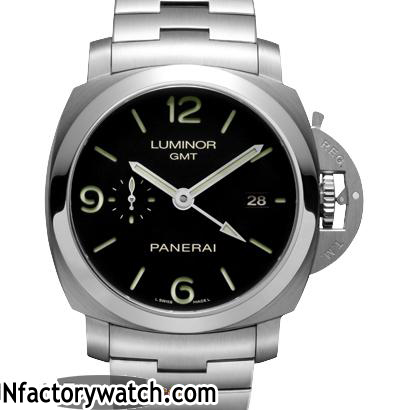 沛納海Panerai LUMINOR 1950 3 DAYS GMT AUTOMATIC ACCIAIO PAM00329 Pam329
