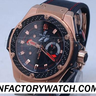 宇舶Hublot Big Bang 大爆炸 King Power F1 玫瑰金