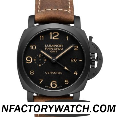 沛納海Panerai LUMINOR 1950 3 DAYS GMT AUTOMATIC CERAMICA PAM00441/PAM441 - V4 完美版